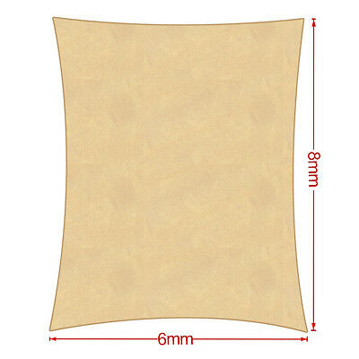 Hot sale OUTT Large 6x8m Outdoor Sun Shade Sail Canopy HDPE Sand Cloth Rectangle