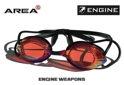 Engine Weapon Classic Fire Swimming Goggles, Swimming Goggles Red / Black