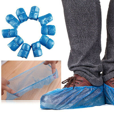 """50 pairs - 15.3x6"""" Disposable Shoe Covers For Medical Lab Safety (100 pieces)"""