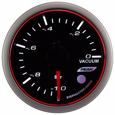 Taiwan Made 52mm 3Colors LED Electrical Vacuum Gauge with Warning and Peak