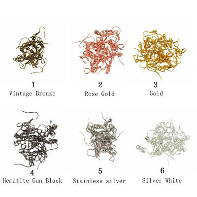 Wholesales 20pcs French Ear wire Earring Bail Hook Pinch Jewelry DIY 6 Colors