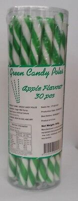 Green Apple Flavour Candy Poles (540g - 18g Each) Pk 30