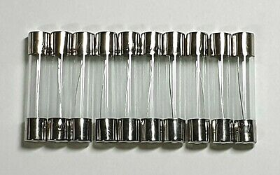 Glass Fuses 10 Pack - 250V 6x30mm - Choose from available values - Free UK P&P