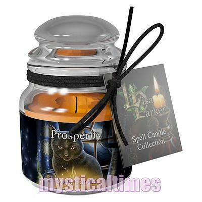 New * Spell Candle * For Prosperity Jasmine Scented Lisa Parker Jar Candle