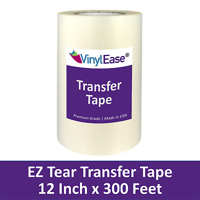 12 in x 300 ft Roll Clear TEAR AWAY Transfer Tape for Sign Craft Vinyl V0823