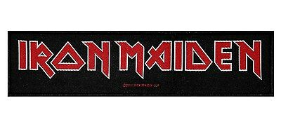 """SS """"Iron Maiden"""" Band Name Logo British Heavy Metal Music Sew On Applique Patch"""