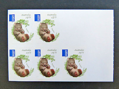 2013 Australian Stamps - Bush Babies II - Wombat Int'l Post-Sheetlet MNH