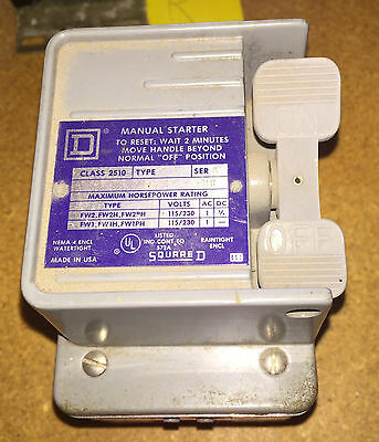 2510 FW-1 - Manual Starter - Enclosure ONLY - Square D Nema-Watertight A11 5721