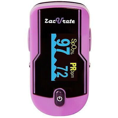Zacurate 500D Purple Fingertip Pulse Oximeter Heart Rate Meter O2 Reader