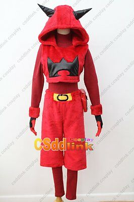 Pokemon Team Magma Grunt Sapphire Cosplay Costume hoodie red plush male