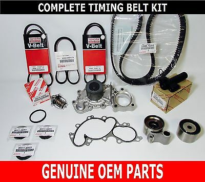 GENUINE TOYOTA OEM 3.4 LITER 5VZFE V6 COMPLETE 17 pcs TIMING BELT & PUMP KIT