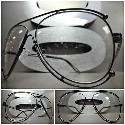 New Men's CLASSIC VINTAGE RETRO Style Clear Lens EYE GLASSES Black Fashion Frame