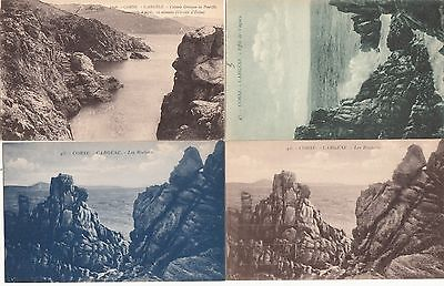 Lot 4 cartes postales anciennes CORSE CARGESE