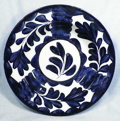 Antique English Pottery Bowl Blue Tulip Norman W Franks Chepstow Place Bayswater