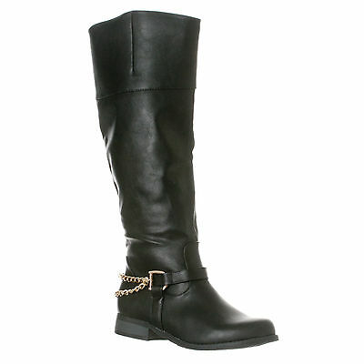 Riverberry Women's Emma Smooth Knee-High Casual Riding Boots