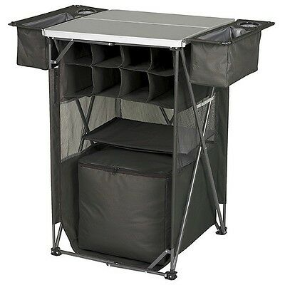 Folding Camp Table Portable Camping Storage Outdoor Cooking Dining Tailgating RV