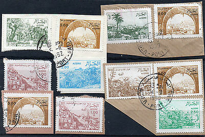 ALGERIA = 1980`s / 1990`s Views on piece. Good Postmarks. Duplicated. All Shown.