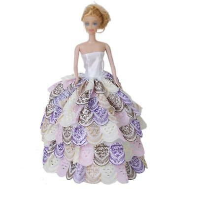 Handmade 6 Layer Party Gown Dress Outfit Clothes Clothing for Barbie Sindy Doll