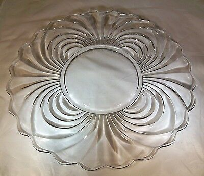 """CAMBRIDGE CAPRICE CRYSTAL #30 17"""" DIAMETER EXTRA LARGE TORTE or SERVING PLATE!"""