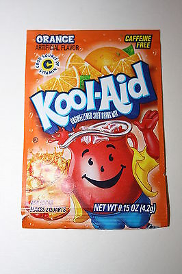 5 x US Kool-Aid Unsweetened Soft Drink Mix ORANGE Flavor