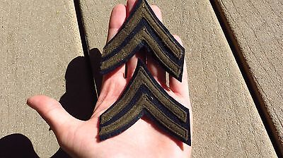 WW2 US ARMY MILITARY CHEVRONS Wool Early Corporal Grade 4