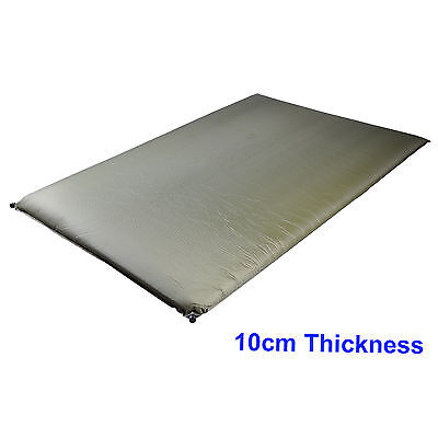Double Self Inflating Camping 10cm Camp Bed Adventure Sleeping Mattress