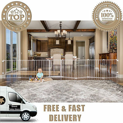 Regalo 192 Inch Super Wide Gate BABY PET Play Yard Metal EASY Configure 19 sq ft