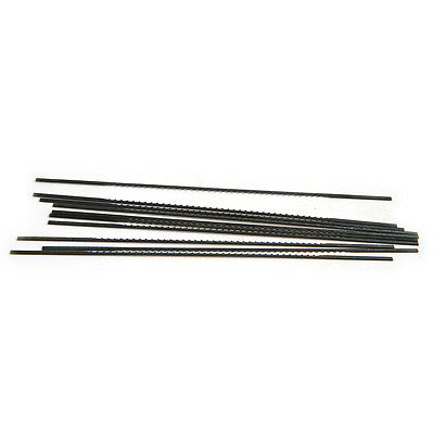 10Pcs 1#  Black Tone Carbon Steel Reverse Tooth Scroll Saw Blades 130mm
