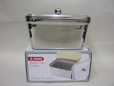 New Judge Stainless Steel Butter Margarine Spreads Tub Holder Dish 500g TC138