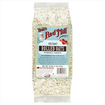 Bobs Red Mill Oats Rolled Quick Cooking 16-Ounces -Pack of 4