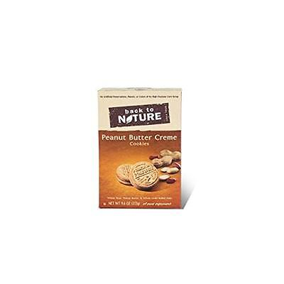 Back To Nature Cookies Peanut Butter Creme 9.6 Ounce (Pack of 6)