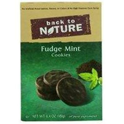 Back To Nature Cookies Fudge Mint 6.4 Ounce (Pack of 6)