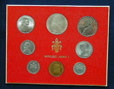 1982 Italy Vatican complete set coins UNC with silver in official box