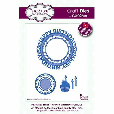 Craft Dies by Sue Wilson - Perspectives Collection - Happy Birthday Circle (CED8