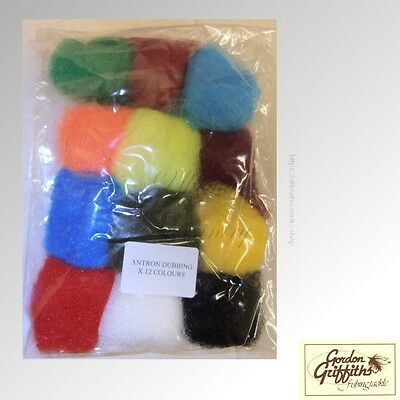 Gordon Griffiths Antron Dubbing - Pack of 12 Mixed Colours