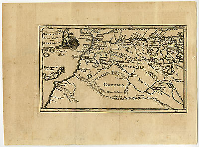 Antique Map-AFRICA-BARBARY-CANARY ISLANDS-MOROCCO-MAURETANIA-Cluver-1694