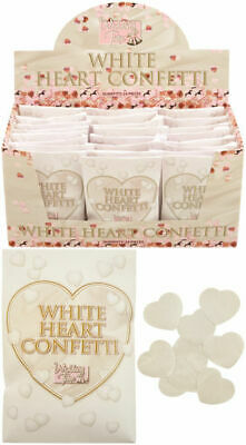 White Heart Shaped Wedding Confetti in Paper Sealed Pack - Decoration