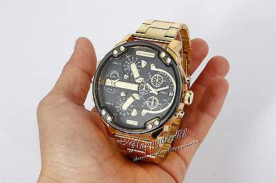 Men's Date Gold Stainless Steel Military Quartz Sport Wrist Watch Popular CUB