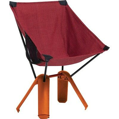 Thermarest Quadra Chair Red Ochre Lightweight Compact Motorcycle Camping Seat