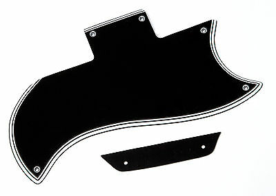 61 62 LP SG Pickguard Tenon Set 5 Ply Black Montreux Time Machine Fits To SG ®