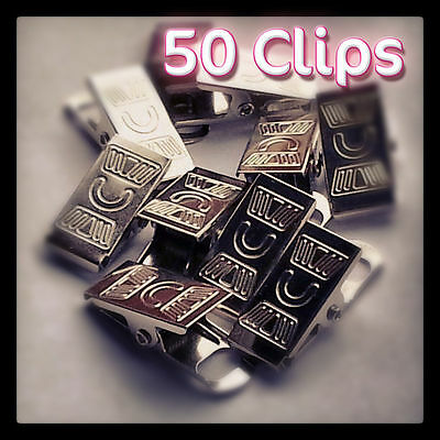 Metal Badge Clips Craft Dummy Clip Strap Pack of 50