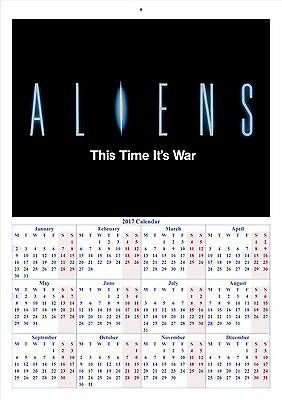 Aliens - 2017 A4 CALENDAR **BUY ANY 1 AND GET 1 FREE OFFER**
