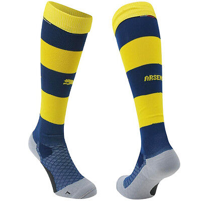 Puma Arsenal AFC Hooped Junior Boys 2014/2015 Football Socks 746375 08 R