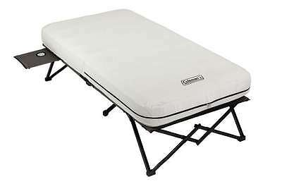 NEW! COLEMAN Portable Camping Twin Airbed Cot w/ Side Table & 4D Battery Pump