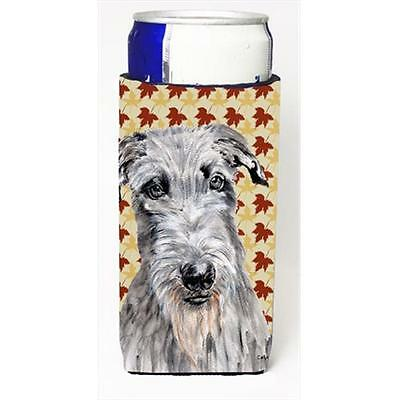 Scottish Deerhound Fall Leaves Michelob Ultra bottle sleeves Slim Cans 12 Oz.