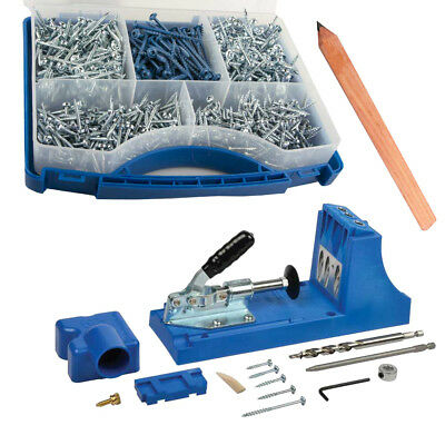 Kreg K4 Pocket Hole Jig Kit with 675 Screws & Free Carpentry Pencil Woodworking
