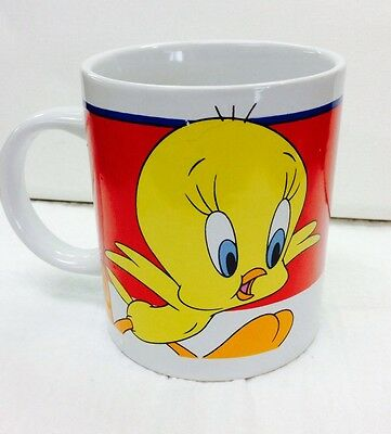 Tweety Bird Looney Tunes Warner Bros Coffee Cup  2000 Vintage Mug