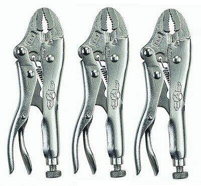 IRWIN VISE-GRIP 4WR (3 PACK) Locking Pliers, Curved Jaw w/ Wire Cutter(1002L3)