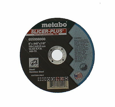 Metabo 655998000 6 x .045 x 7/8 A 60 TX, For Steel 50 in package