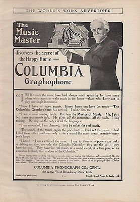 1906 Columbia Phonograph Co New York NY Ad: The Music Master Columbia Graphophon